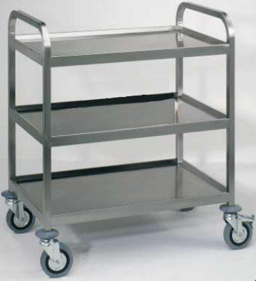 Carrello acciaio inox 3 ripiani con bordo for Scatolati in acciaio inox