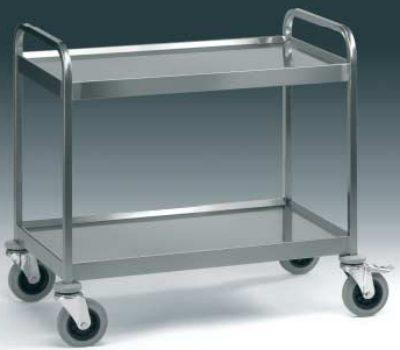 Carrelli acciaio inox carrello grande portata a 2 ripiani for Scatolati in acciaio inox