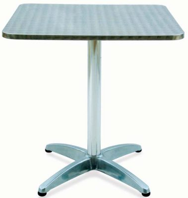 Tavoli Tavolo Bar Quadrato Alluminio Ed Acciaio Inox Cm 70x70xh.70