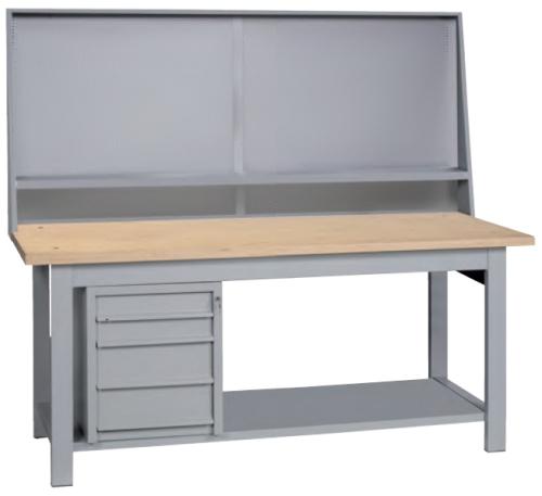 Banco da lavoro in legno 4 cassetti piano inferiore cm - Banco da lavoro ikea ...