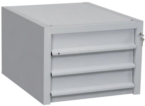 Cassettiera in Ferro 3 cassetti per tavolo da Lavoro 515x625h370 ...