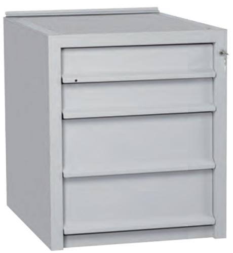 Cassettiera in Ferro 4 cassetti per tavolo da Lavoro 515x625h605 ...