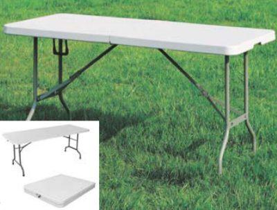 Tavoli Da Giardino Pieghevoli In Plastica.Tavolo Da Esterno Piano Gambe Pieghevoli Per Catering 180x76x74
