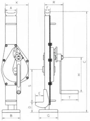 Binda meccanica a manovella per sollevamento portata kg - Portata golfari di sollevamento ...