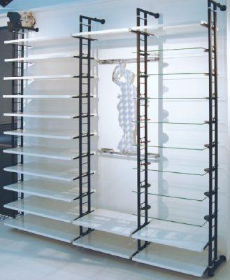 Curva verticale 2 tubi verniciata x espositore traliccio for Tubi idraulici arredamento