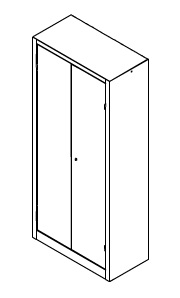 Armadio portautensili tuttopiani ferro for Armadio a due piani