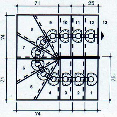 Scala a giorno a rampa da interni kit universal maxi u c75 - Scale per interni misure ...
